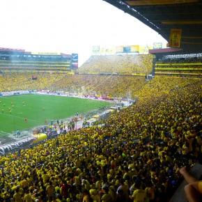 Estadio Monumental a reventar con hinchas del Barcelona SC