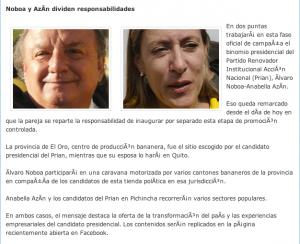 Noboa y Azín dividen Responsabilidades