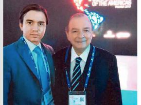Alvaro Noboa e hijo Daniel Noboa Cumbre de las Americas