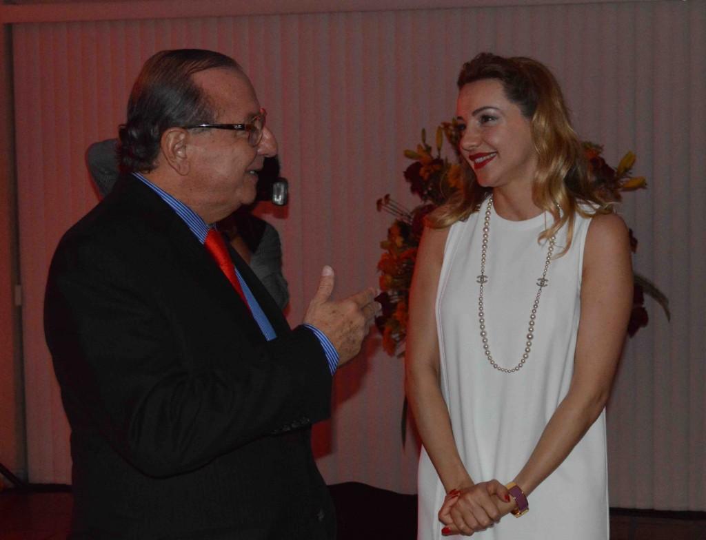 Arinna Bianchi con Álavaro Noboa