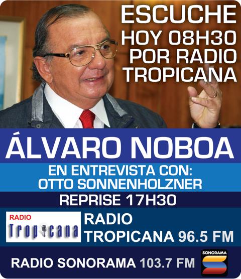 Alvaro Noboa Entrevistada en Radio Tropicana
