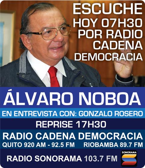 Alvaro Noboa en Radio Cadena Democracia