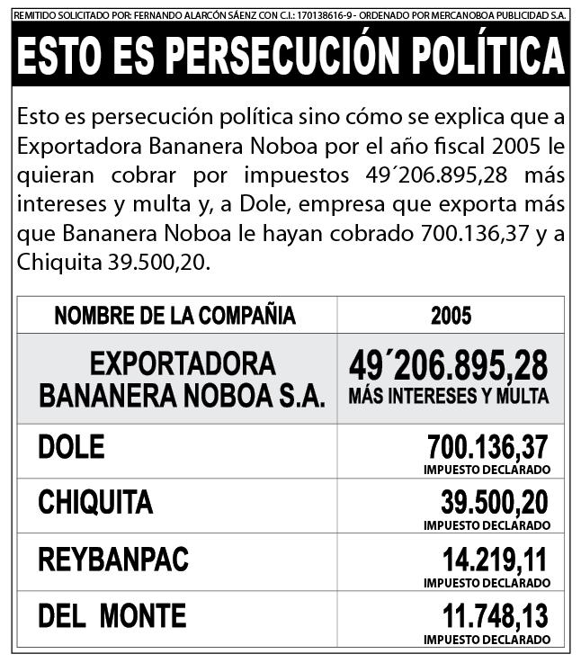 Esto es Persecución Política - Alvaro Noboa
