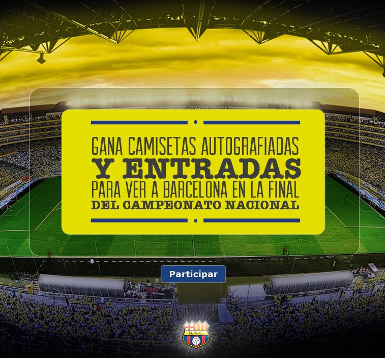 Participa por camisetas autografiadas y entradas a la final Barcelona - Alvaro Noboa