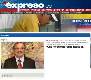 Diario Expreso - ¿Qué modelo necesita Ecuador? Álvaro Noboa (PRIAN) Lista 7 'Implementaré políticas públicas que generen empleo y brinden estabilidad'