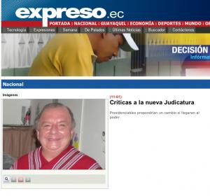 FUENTE: Diario Expreso - Críticas a la nueva Judicatura