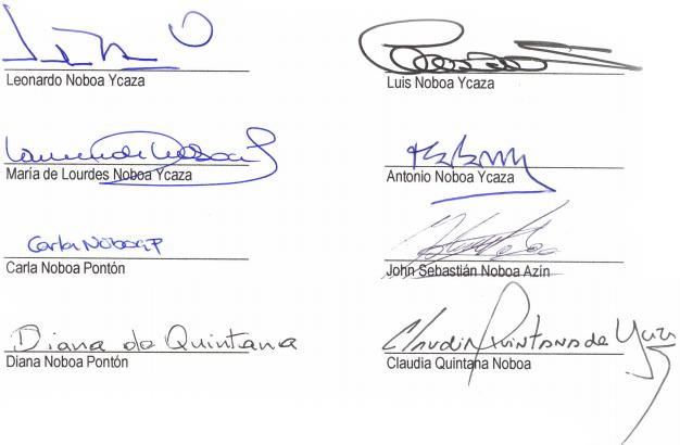 firmas familiares alvaro noboa